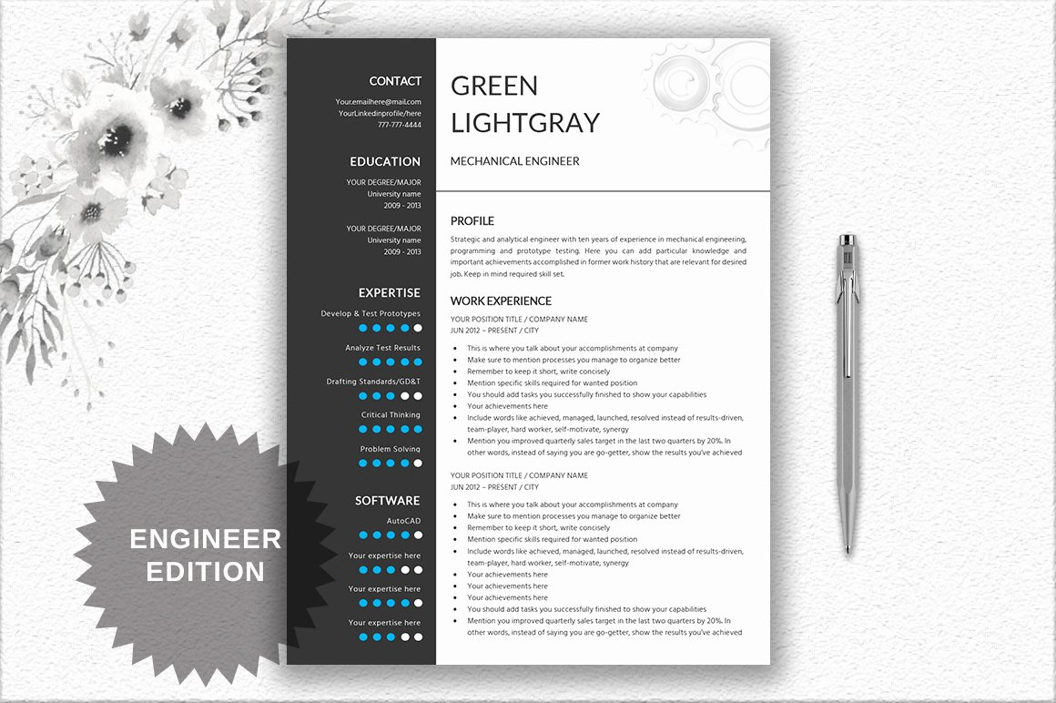 Engineer Resume Template Word Unique Resume Template Engineer