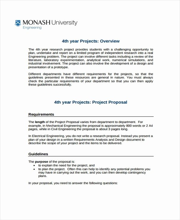 Engineering Project Proposal Template Beautiful 12 Engineering Project Proposal Templates Word Pdf