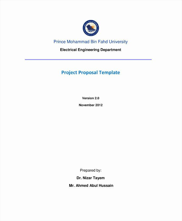 Engineering Project Proposal Template Fresh 11 Engineering Project Proposal Templates Pdf Word