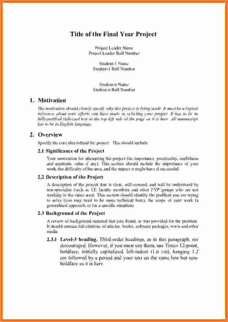 Engineering Project Proposal Template Inspirational 7 Engineering Project Proposal Template