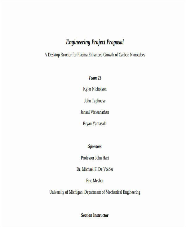 Engineering Project Proposal Template Lovely 13 Project Proposal Templates Word Pdf
