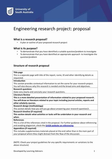 Engineering Project Proposal Template Lovely 9 Engineering Project Proposal Samples Pdf Word