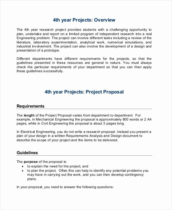 Engineering Project Proposal Template Luxury Mechanical Engineering Research Proposal Sample – Essays Hub