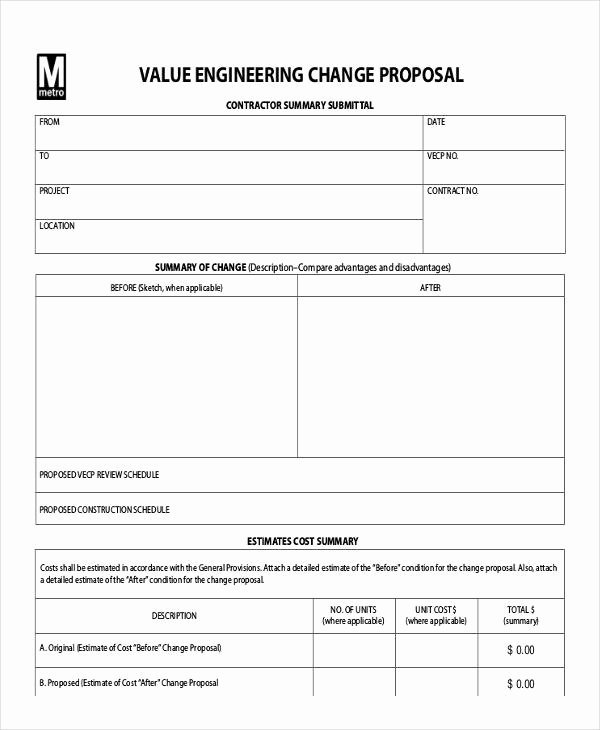 Engineering Project Proposal Template New Engineering Proposal Templates 12 Free Word Pdf format