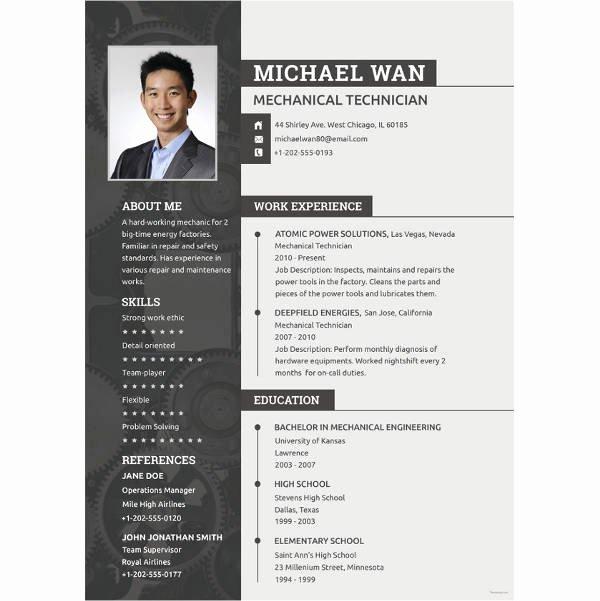 Engineering Resume Templates Word Unique Resume Mechanical Engineer Resume Sample