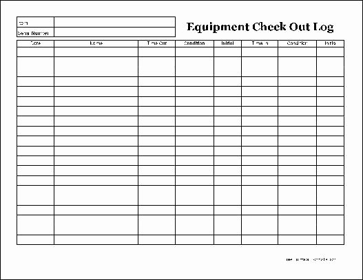 Equipment Checkout form Template Awesome Free Easy Copy Detailed Equipment Check Out Wide From