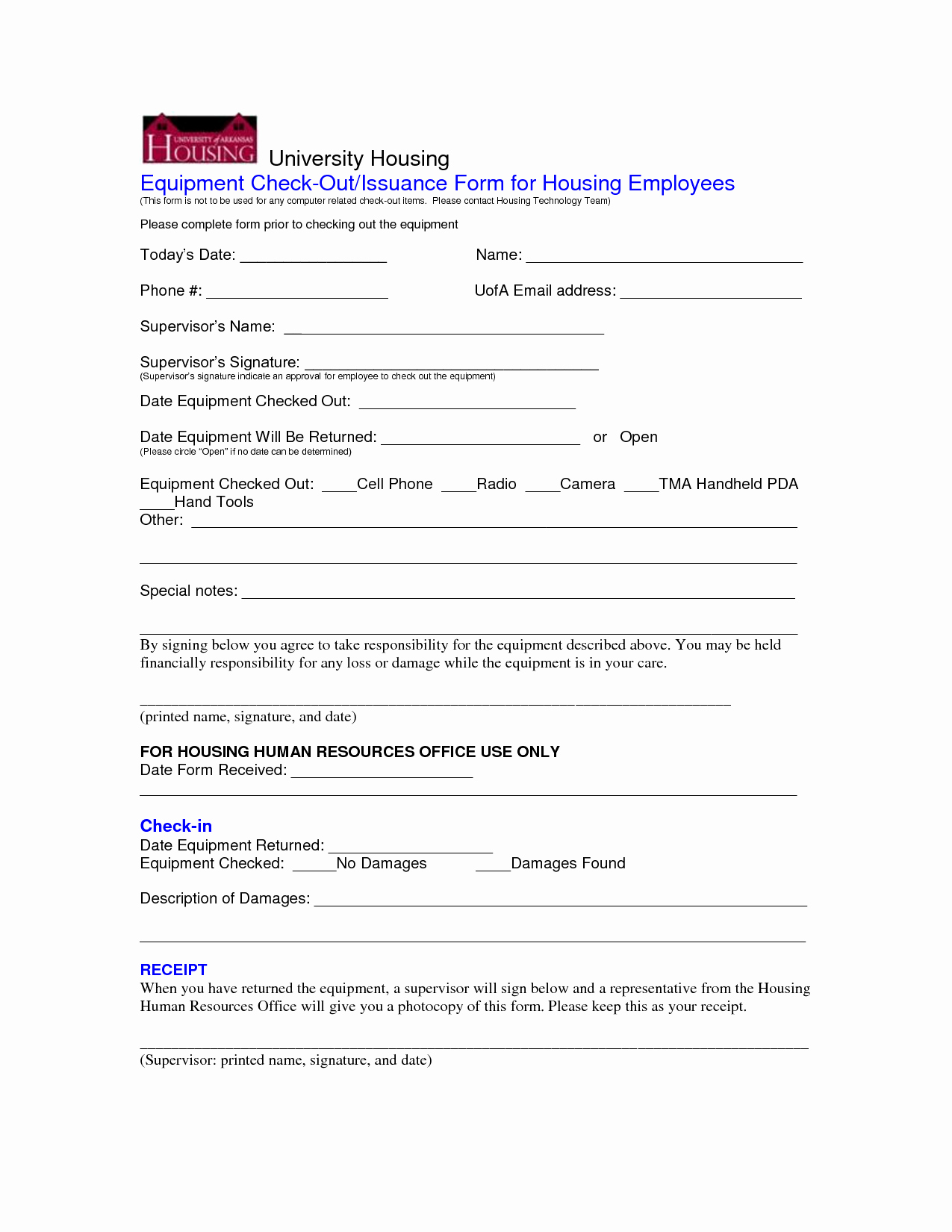 Equipment Checkout form Template Fresh Best S Of Employee Equipment Check Out form