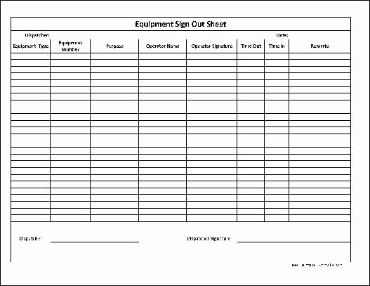Equipment Checkout form Template Lovely 13 Best Of Basic Log Worksheet Free Printable