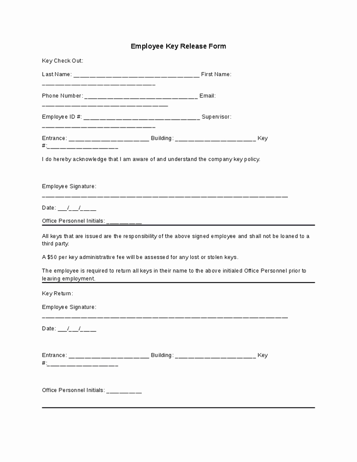 Equipment Checkout form Template Lovely 8 Best S Of Key Check Out form Template Equipment