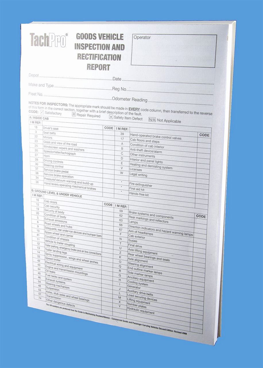 Equipment Checkout form Template Lovely Goods Vehicle Inspection Rectification Report Sheet Book