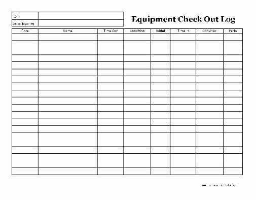 Equipment Checkout form Template Unique 6 Check Out form Template Ierwr