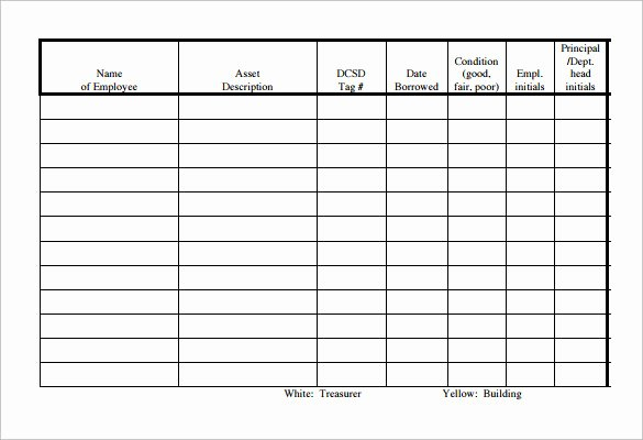 Equipment Checkout form Template Unique Sample Equipment Sign Out Sheet 14 Documents In Pdf