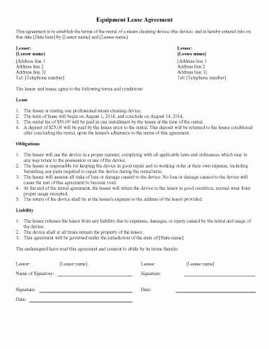 Equipment Lease Agreement Template Word Fresh 31 Sample Agreement Templates In Microsoft Word