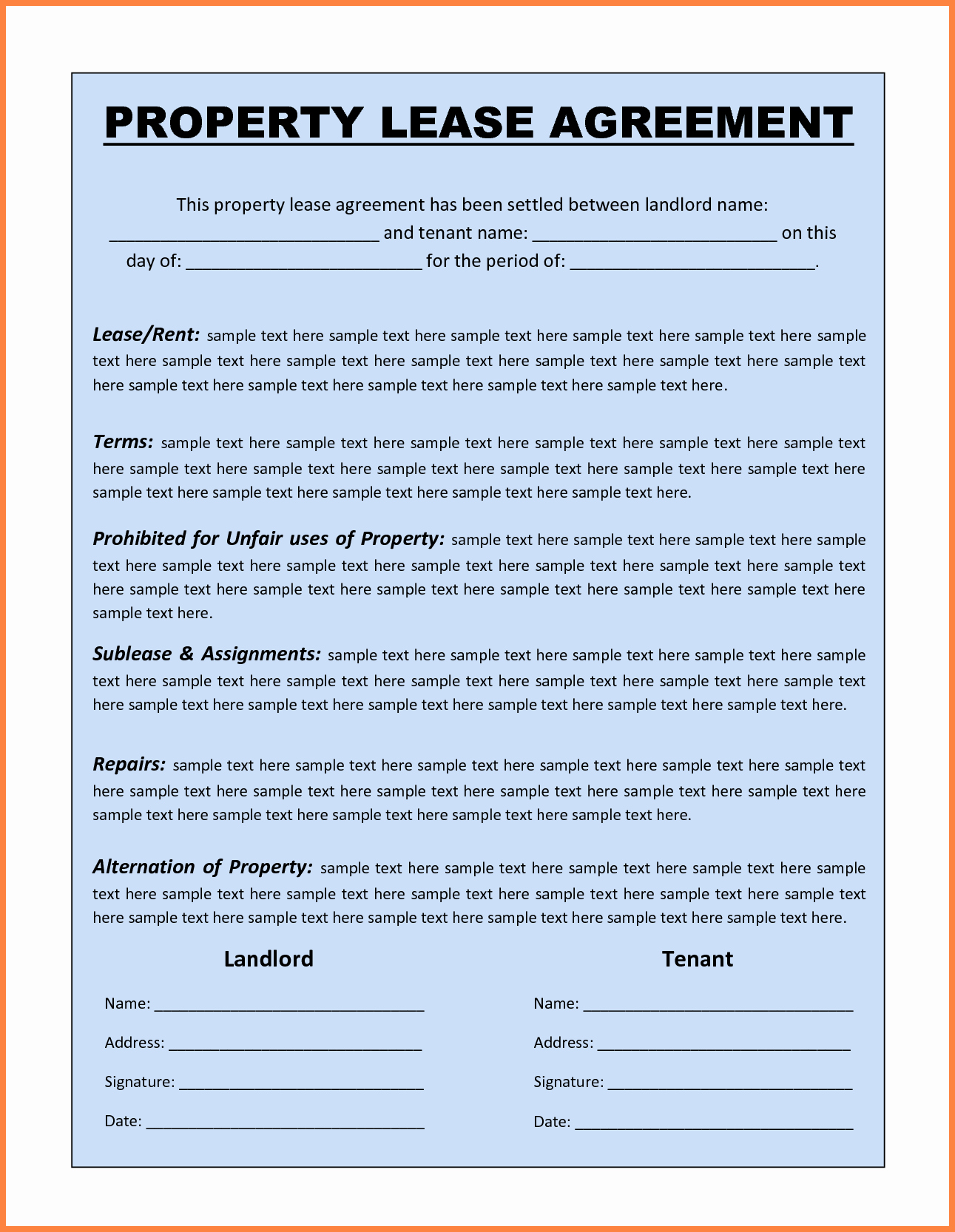 Equipment Lease Agreement Template Word Inspirational 13 Mercial Lease Agreement Template Word
