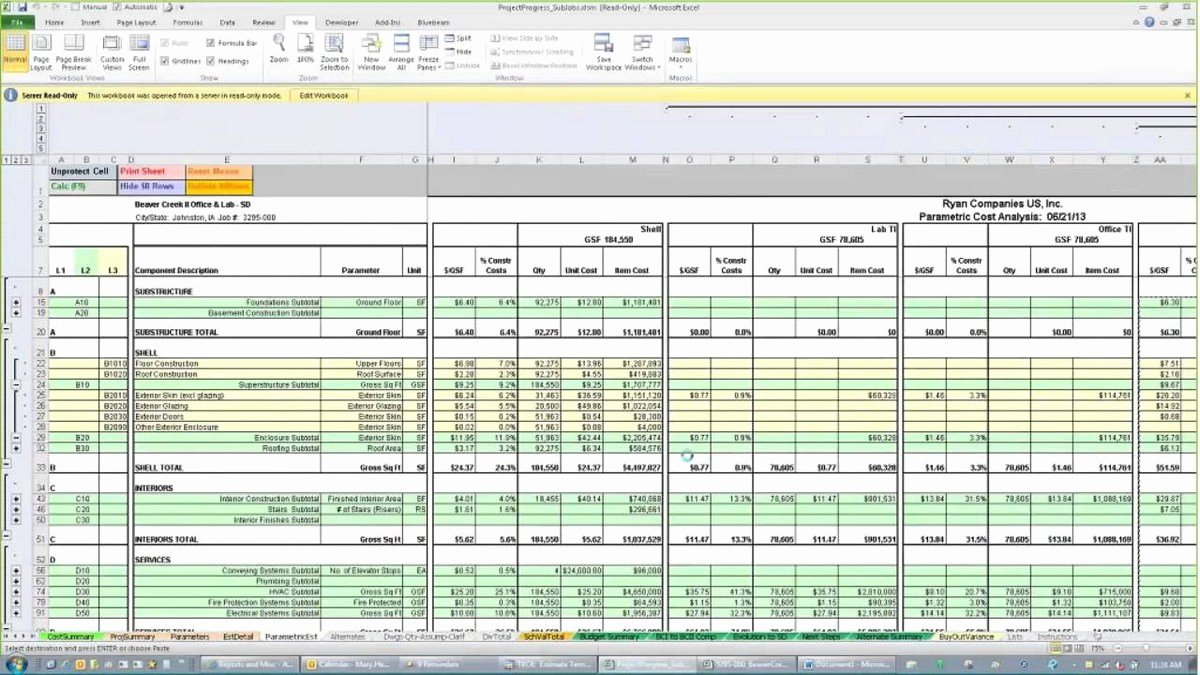 Estimating Template for Construction Awesome Construction Estimating Spreadsheets