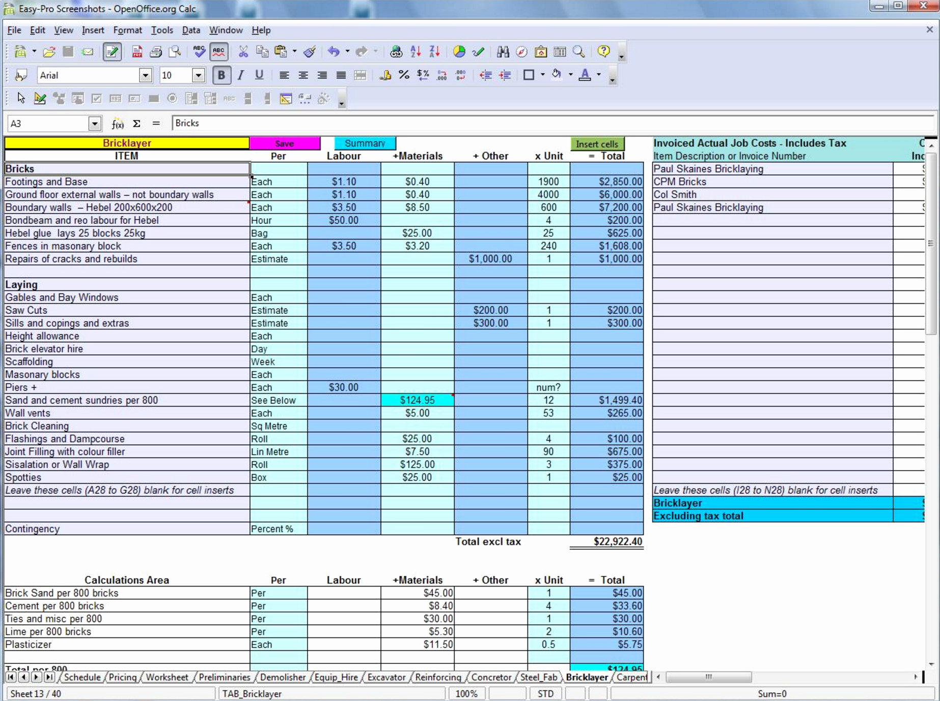 Estimating Template for Construction Luxury 5 Best Free Construction Estimating & Takeoff Products