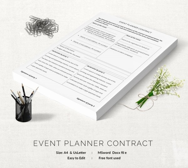 Event Planning Contract Template Elegant event Contract Template 18 Free Word Excel Pdf