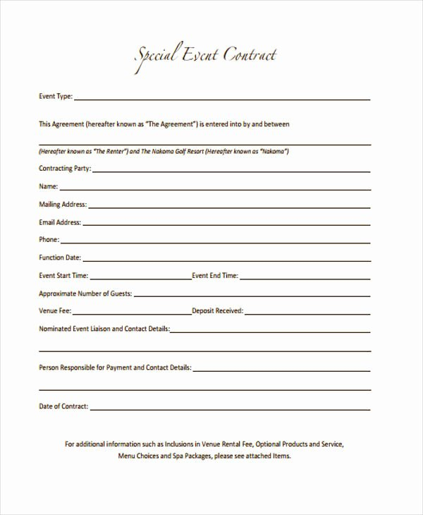 Event Planning Contract Template Free Best Of 11 event Contract Templates Free Sample Example format