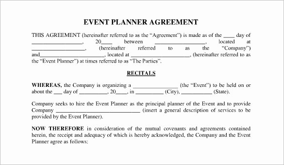 Event Planning Contract Template Unique event Contract Template 23 Word Excel Pdf Documents
