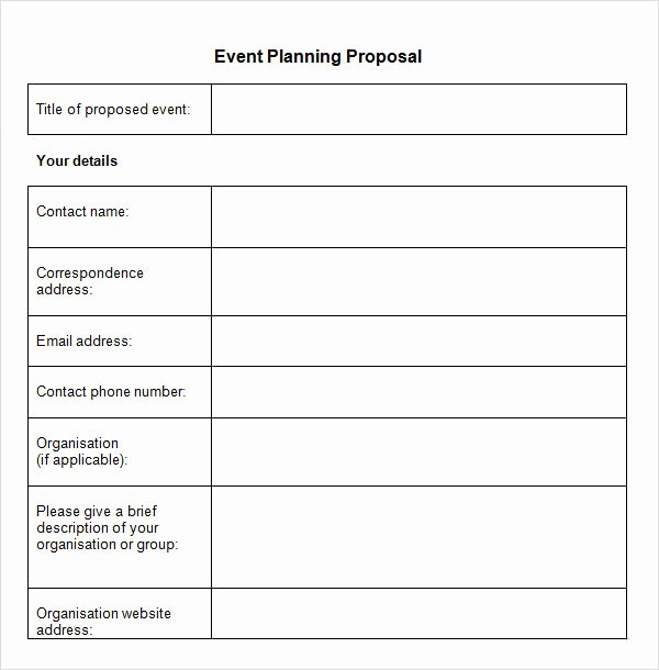 Event Planning Template Word Beautiful Free 30 Sample event Proposal Templates Psd