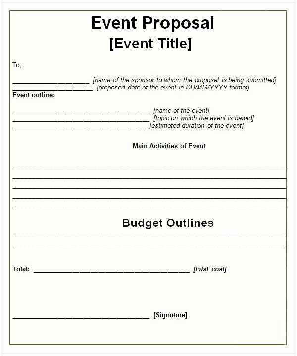 Event Planning Template Word Elegant event Proposal Templates … Proposals