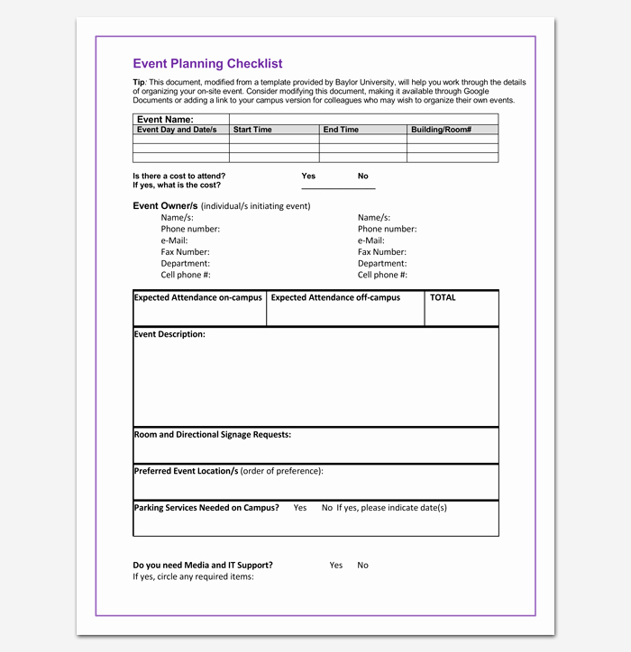 Event Planning Template Word Elegant event to Do List Template 40 Checklists In Word Excel