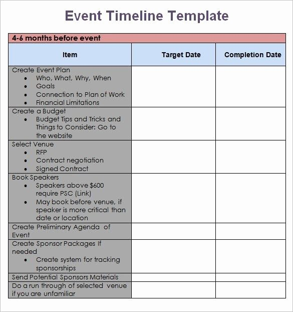Event Planning Template Word Inspirational event Planning Timeline Template event Planning Timeline