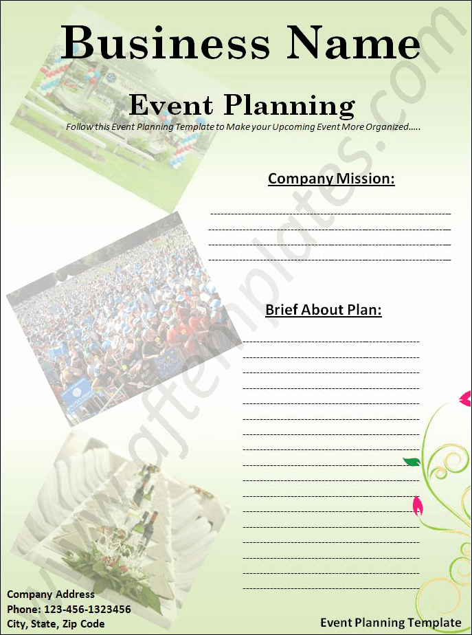 Event Planning Template Word Lovely event Planning Template