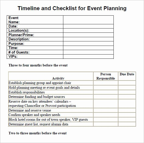Event Planning Template Word Lovely Free 16 Sample event Planning Checklist Templates In