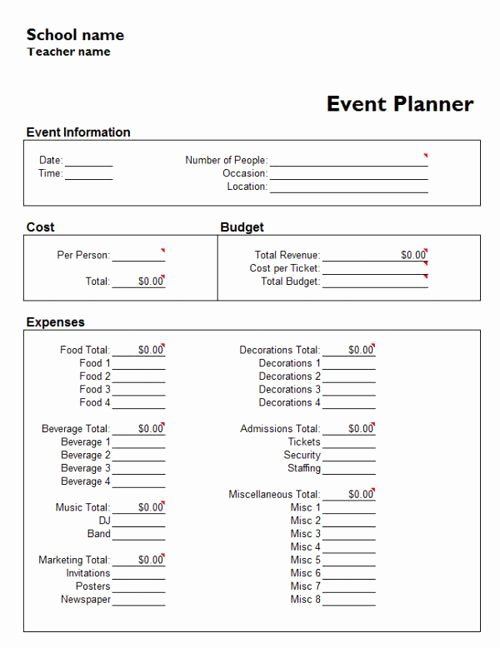 Event Planning Template Word New Useful Microsoft Word & Microsoft Excel Templates