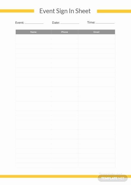 Event Sign Up Sheet Template Elegant Sample Sign Up Sheet Template In Microsoft Word Pdf