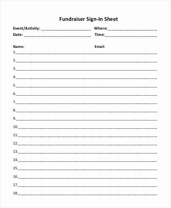Event Sign Up Sheet Template Fresh event Sign In Sheet Template 16 Free Word Pdf