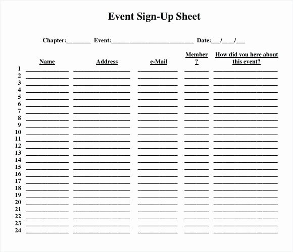 Event Sign Up Sheet Template Inspirational event Sign Up Workshop In Sheet Template – Goiss