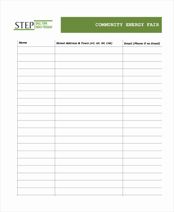 Event Sign Up Sheet Template Lovely event Sign In Sheet Template 16 Free Word Pdf