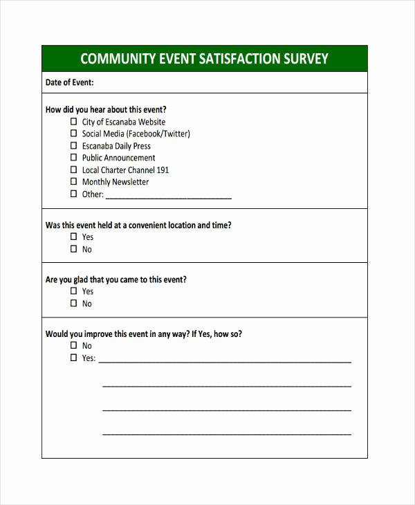 Event Survey Template Word Awesome Free 38 Sample event forms In Word