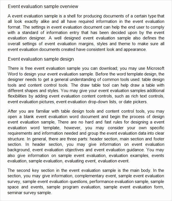Event Survey Template Word Beautiful Free 9 event Evaluation Samples In Pdf Word