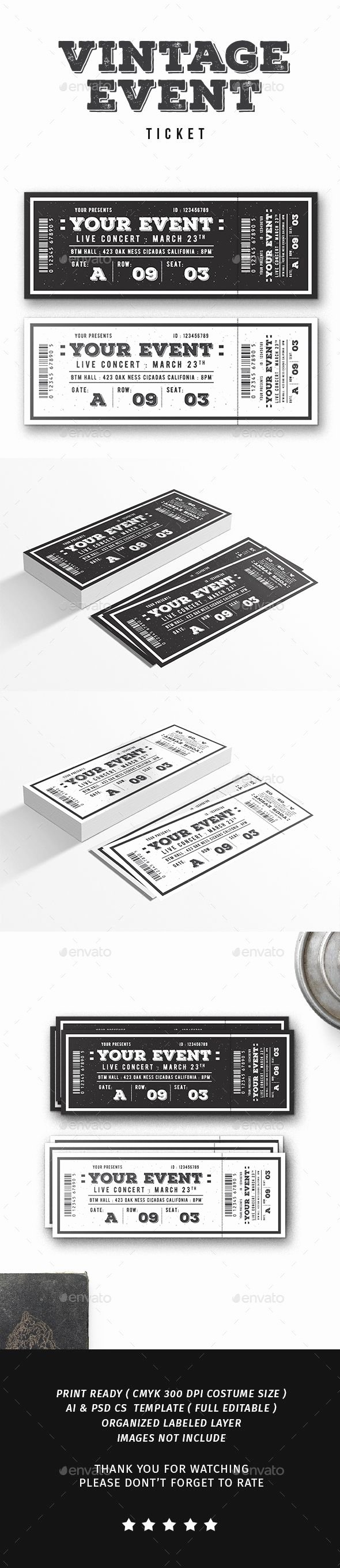 Event Ticket Template Photoshop Awesome 25 Best Ideas About event Ticket Template On Pinterest
