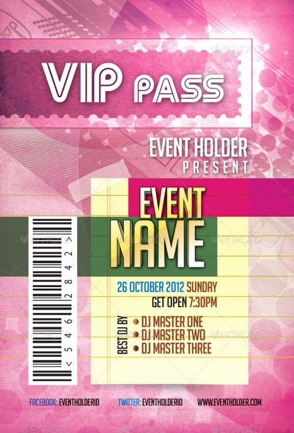 Event Ticket Template Photoshop Best Of event Ticket & Vip Pass Pack Template Templates