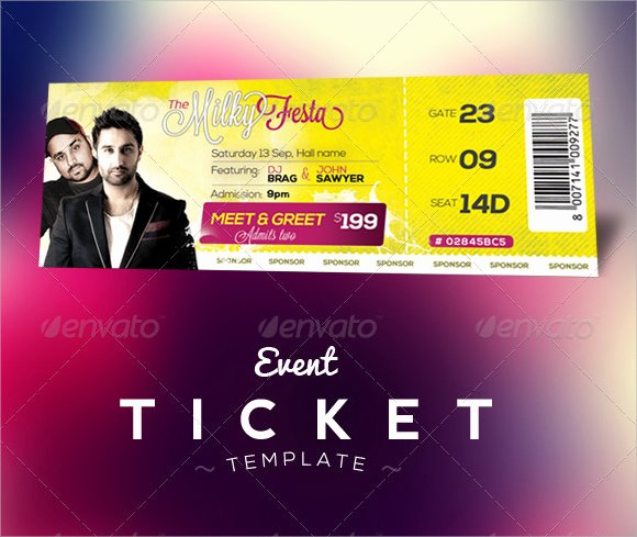 Event Ticket Template Photoshop Best Of Free 38 Sample Amazing event Ticket Templates In