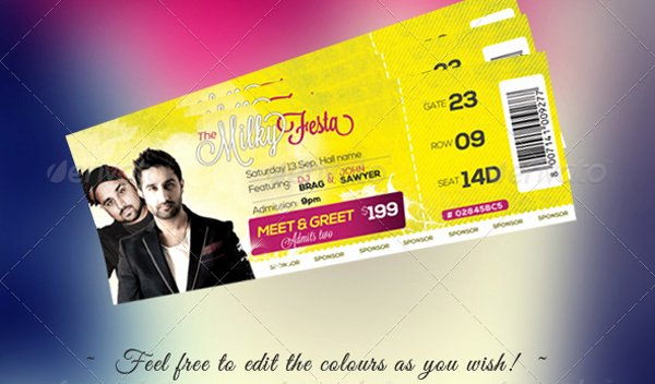 Event Ticket Template Photoshop Best Of Free Download event Tickets Template Psd