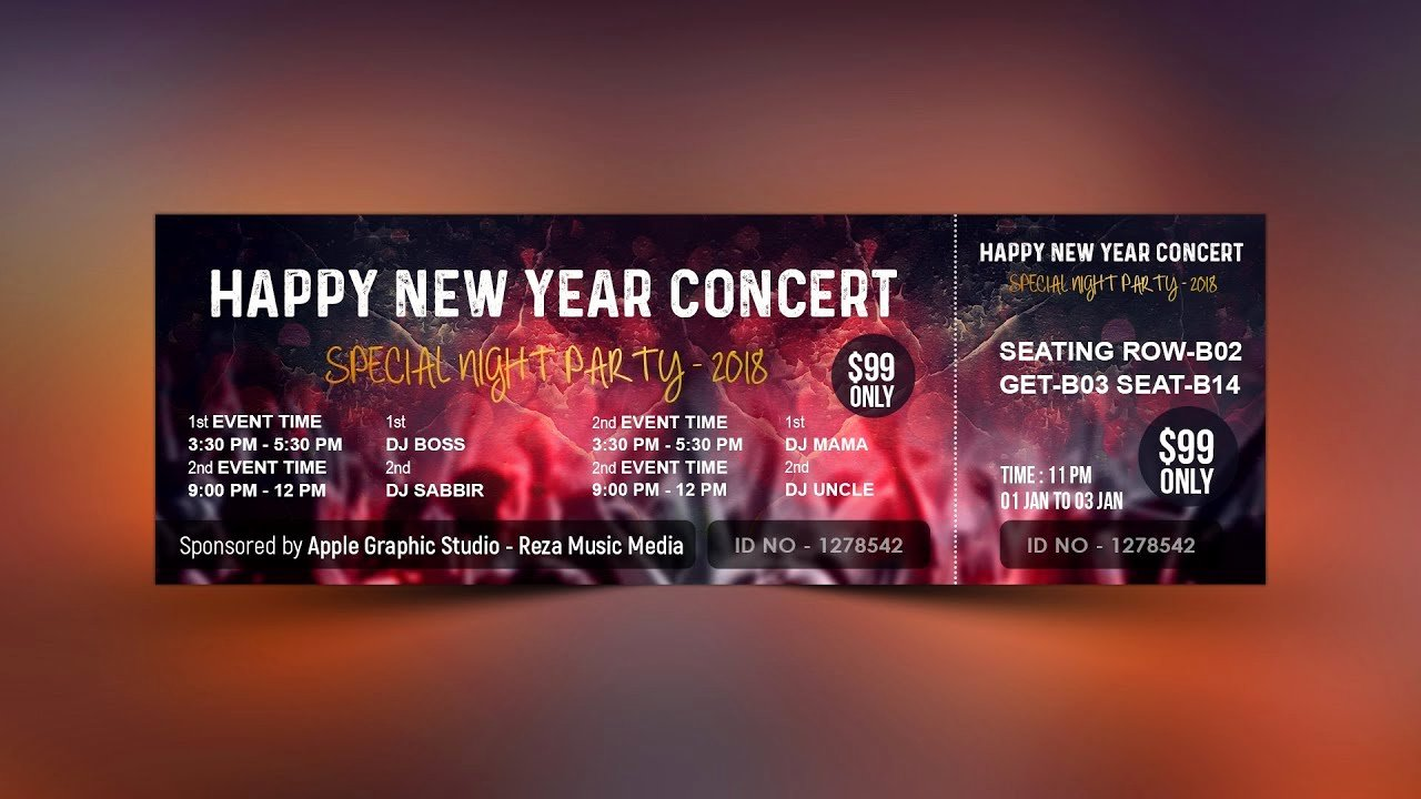 Event Ticket Template Photoshop Best Of How to Design event Ticket Template In Shop