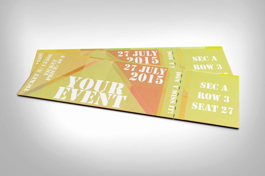 Event Ticket Template Photoshop Elegant Free Abstract event Ticket