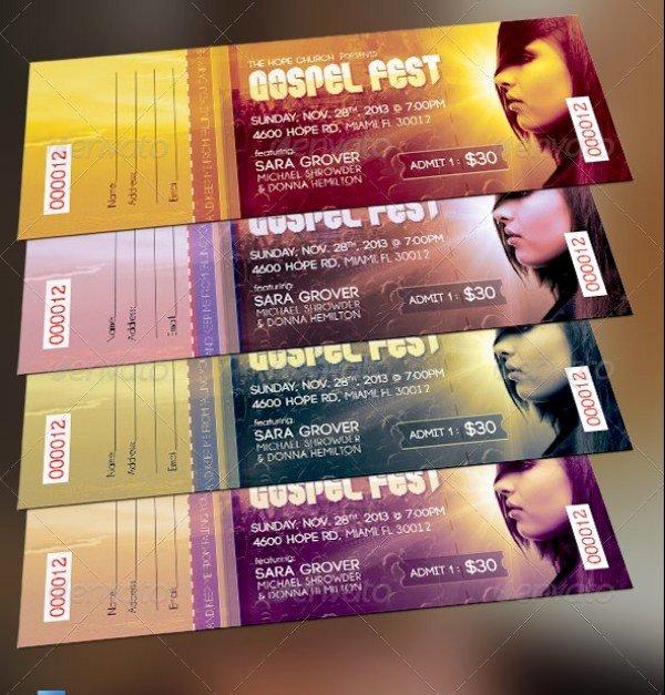 Event Ticket Template Photoshop Fresh 46 Print Ready Ticket Templates Psd for Various Types Of