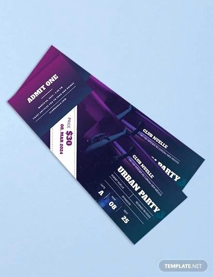 Event Ticket Template Photoshop Fresh Free 38 Sample Amazing event Ticket Templates In