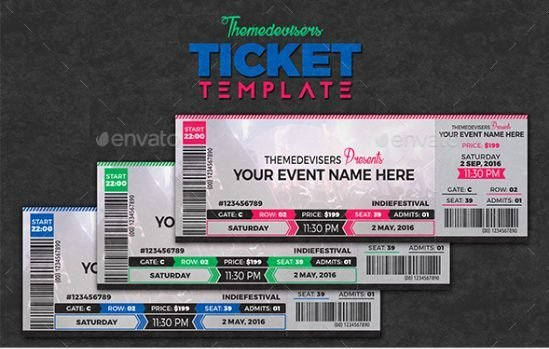 Event Ticket Template Photoshop Lovely 11 Concert Ticket Templates In Psd for Shop