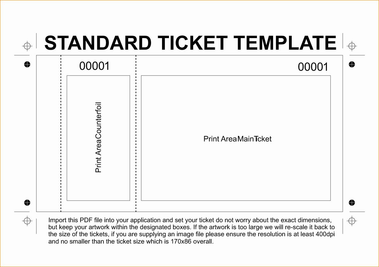 Event Ticket Template Photoshop Unique 36 Editable Blank Ticket Template Examples for event Thogati