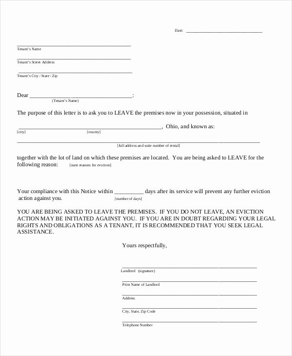 Eviction Letter Template Free Awesome Printable Copy Of Eviction Notice
