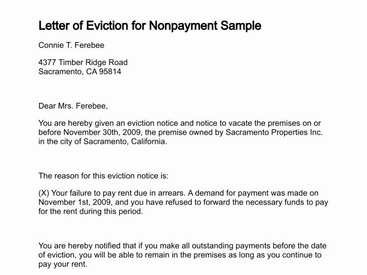 Eviction Letter Template Free Elegant Free Printable Letter Eviction form Generic