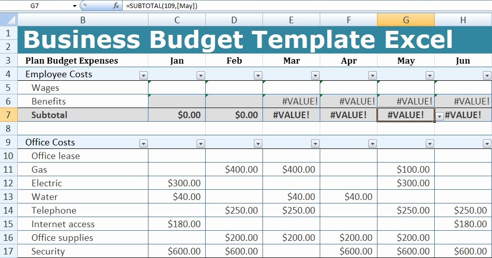 Excel Business Budget Template Lovely Business Bud Template Excel