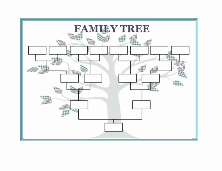 Excel Family Tree Templates Fresh Family Tree Template Word